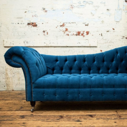 Velvet Chesterfield Sofa