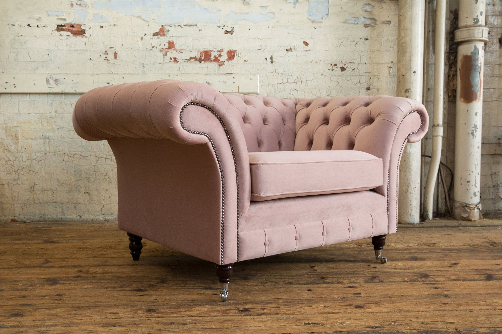 woodstock chesterfield armchair house dusty pink velvet p103 884 zoom